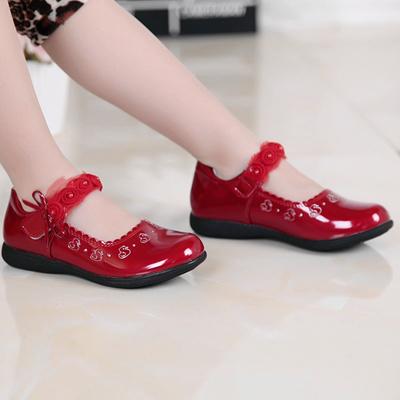 808d5c113b16 Qoo10 - Girls Princess shoes white black red leather shoes leather shoes  Korea...   Kids Fashion
