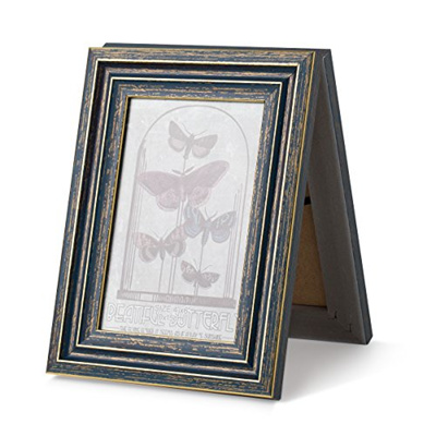 GJT 4x6 Inch Picture Frame Hinged Double Standard Photo Frame with Glass  Front Blackboard Stands Ver