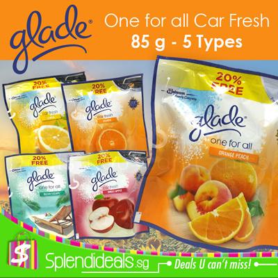 Gladeglade One For All Car Fresh Air Freshener 70g 15g Free 20 6 Types Sweet Apple Orange Etc