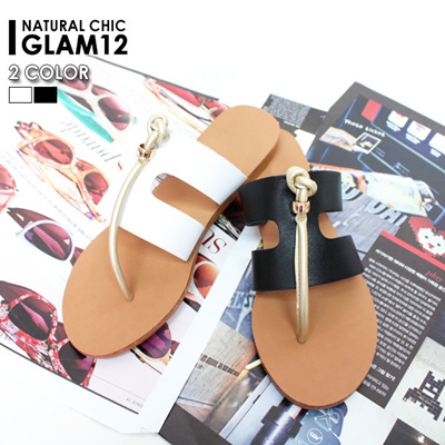 Glam12 6sh124 Spring Social Position Cool While Wearing The Stylish Flop Slippers Comfortable Grip