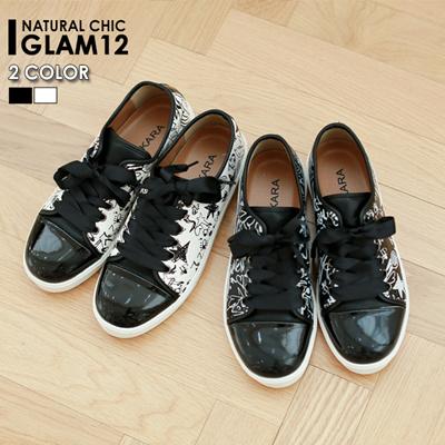 Glam12 6sh224 Autumn Social Position Unique Pattern Basic Scan Chico Jeu Design Graffiti Sneakers