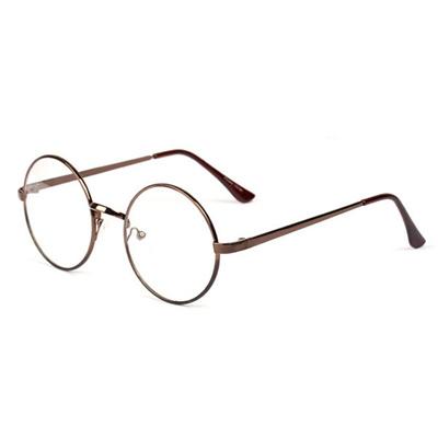 b95232681 Qoo10 - Glasses frame Women Men Retro Round Metal Frame Clear Lens Glasses  Ner... : Men's Bags & Sho.
