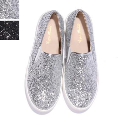 447567dee89a Qoo10 - リッターラメ スリッポン スニーカー   Shoes