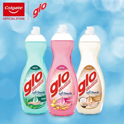 GloBundle of 6! [Glo] Soft Touch Dishliquid 700ml (Coconut / Vitamin E/  Aloe Vera)