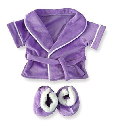 Qoo10 - [globalkshop] Teddy Bear Kleidung Lila Bademantel ...