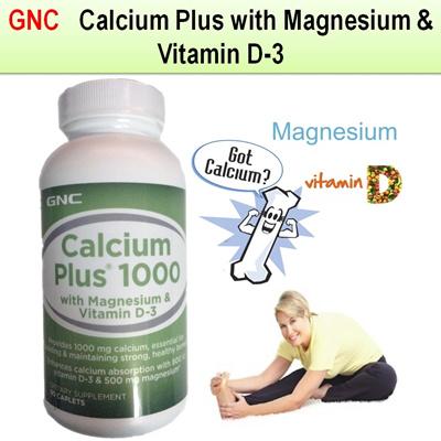 GNC[GNC][New Product] GNC Calcium Plus with Magnesium Vitamin D-3 180  Caplets / GNC Calcium Citrate/ easy to absorb/ coral calcium