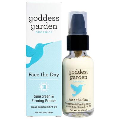 Goddess Garden Face The Day Sunscreen SPF 30 & Firming Primer, 1 Oz Inn&Co Hyaluronic Acid Serum with Vitamin C, Vitamin E, Rose Hip, Green Tea, Jojoba Oil For Skin - Anti Aging Serum