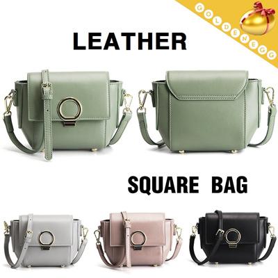 f56315e5d2 ◇Cowhide-Unique Urban Design-Circle Button Sling Bag◇Fashion Shoulder Bag-