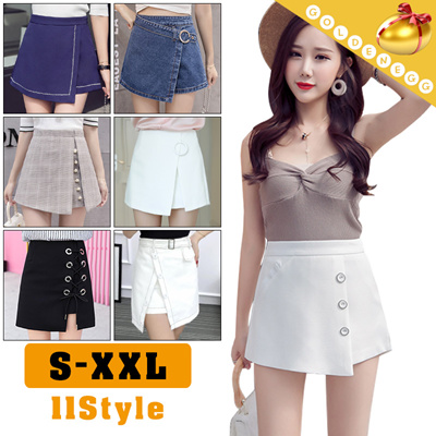 5db5d870dab Lady Fashion◇False two piece pantskirt◇Casual Daily Skirt  Stylish  Mini  skirt