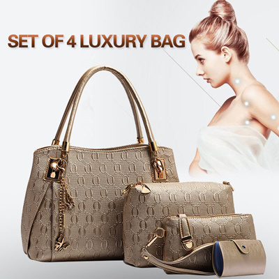 Qoo10 - No Hidden Price▷Set of 4+@ Lovely Package PU Leather Bags ... f04f64599eed6
