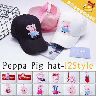 (UNISEX)◇Peppa Pig Baseball Caps◇ Casual Street Fashion Cap  Fashion pig 3f06662aae8