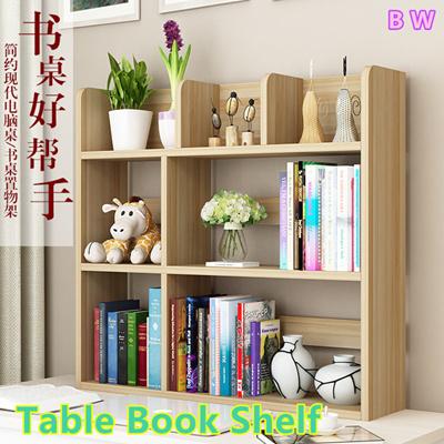 Good Study Table Shelf Desk Top Storage Rack Bookshelf Computer Space Saving Office Work Station