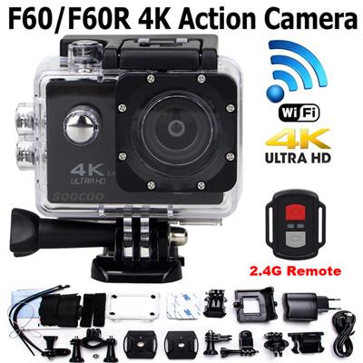 Gopro F60/F60R 4K Sport Action Camera 1080P WIFI Camera 30M Waterproof Bike  Helmet Sport Camcorder