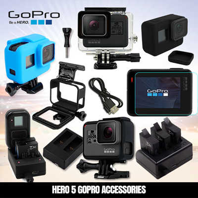 Gopro Hero 5 Action Camera Accessories Sports Spare Parts Screen Protector  Charger Battery Case