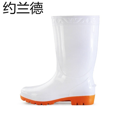 1228ae075ed Gorande Men s drum white rain boots non-slip wear-resisting waterproof  rubber shoes tendons soles bo