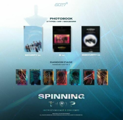 GOT7 SPINNING TOP K-POP CD + 2 PHOTOCARD + SPECIAL CARD SET + POSTER IN  TUBE NEW