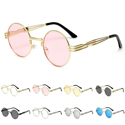 4e4f264a5 Qoo10 - Gothic Steampunk Sunglasses Men Women Metal Wrap Eyeglasses Round  Shad... : Jewelry & Access.