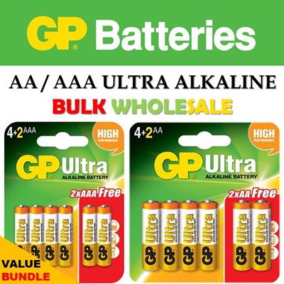 GP Ultra AA / AAA Alkaline Battery ☆ Long Shelf Life ☆ High Performance ☆ 12