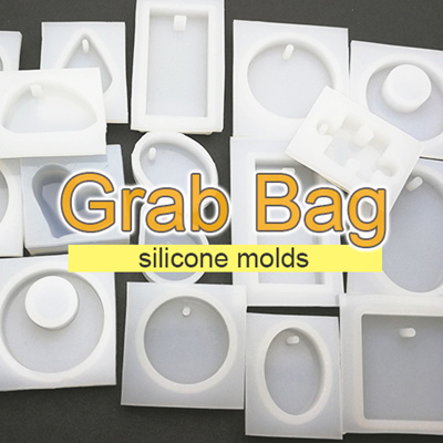 GRAB BAG 5pcs Silicone molds for UV resin / epoxy casting resin
