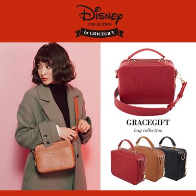 299cbe2d1394 Gracegift-Disney Mickey Minnie Chip n Dale embossing crossbody bag Women Girls  Shoes