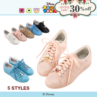Gracegift-Disney Tsum Tsum Metal Charm Sneakers/Women/Ladies/Girls Shoes/