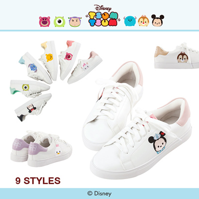 8b340f28 Gracegift-Disney Tsum Tsum TopQ Embroidery Sneakers/Women/Ladies/Girls Shoes