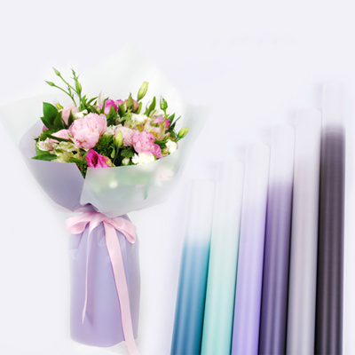 Gradient Color Korean Gift Wrapping Paper Flower Bouquet Packing Paper Florist Decoration Party Supp