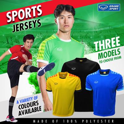 fe8da066cb5f67 Qoo10 -  Grand Sport Official  Mens Sports Jerseys   3 Models   Sportswear