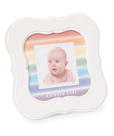 Qoo10 - Grandparent Gift Co 8x8 White Scalloped Photo Frame Rainbow ...