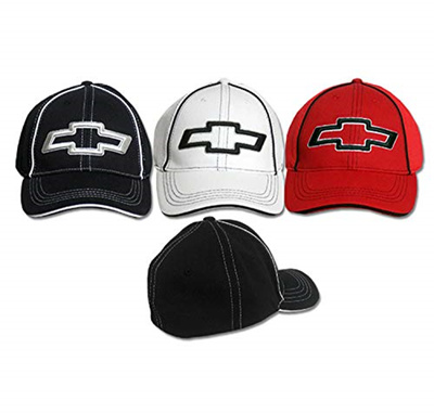 Gregs Automotive Chevrolet Bowtie Hat Cap Black Bundle with Decal 2 Items 1 Hat and 1 Driving Style Decal