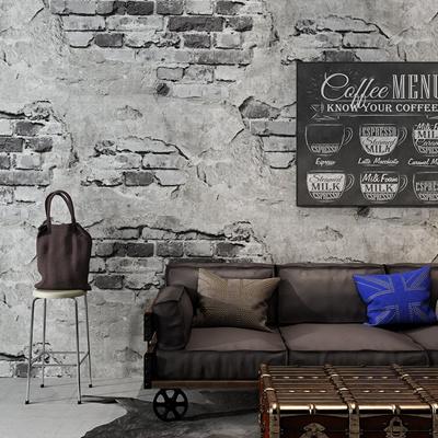 Grey Cement Loft Brick Wallpaper 3d Rolls For Living Room Sofa Background 3d Brick Wall Paper Papel