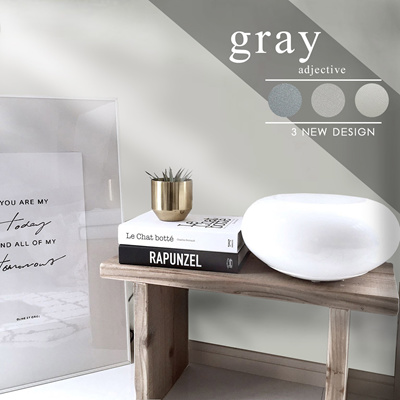Grey Self Adhesive Wall Paper Peel And Stick Furniture Shelf Cabinet Sticker Reform