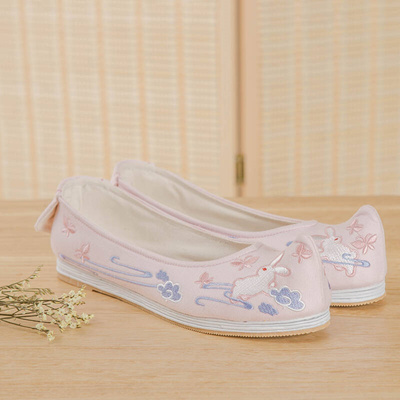 Gu Lydon Han Shang Hualian of traditional Chinese clothing shoes retro  decorative bow shoes cotton e