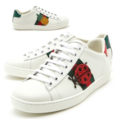 1c7840f12 [Gucci] Ace Pineapple Ladybug 431920 A38G0 9064 Womens Sneakers