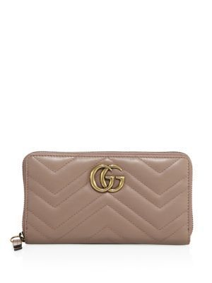 897740ace7d Qoo10 - Gucci GG Marmont Matelasse Leather Zip-Around Wallet   Bag ...