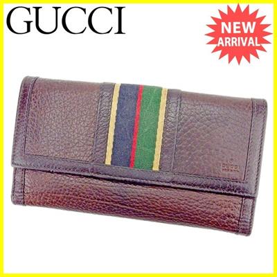 752a4c0c9defb0 Gucci GUCCI W HOOK wallet wallet wallet fold wallet purse women's brown  leather [pre]