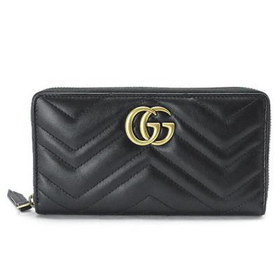 dba0eadb518a Gucci long wallet GUCCI 443123 DRW 1 T 1000 round fastener GG MARMONT / GG  Mermont