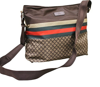 68a20aae9 Qoo10 - (Gucci) Gucci Men s Brown Nylon Sling Messenger Bag 270410 8636    Perfume   Luxury Beauty
