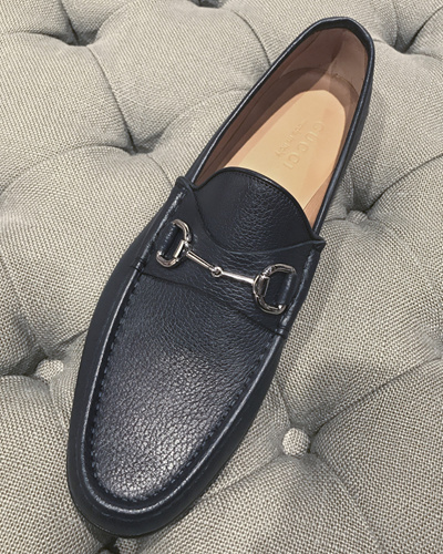 72dbcd8d339 GUCCI NESTOR SOFT LEATHER HORSEBIT MEN LOAFER (367762-AHM00)