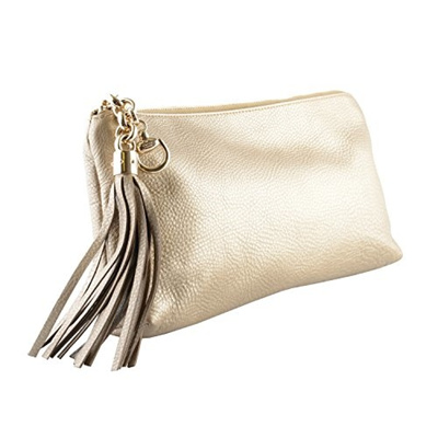 2f8641411de Qoo10 - Gucci Women s 100% Leather Gold Clutch Handbag   Bag   Wallet