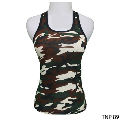 Pakaian Tank Top Hot Spandek Loreng – TNP 89