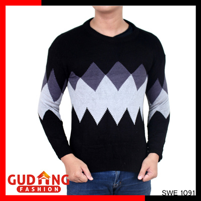 Harga Gudang Fashion Pakaian Batik Pria Modern Katun - Kombinasi Warna. Source · Sweater Rajut