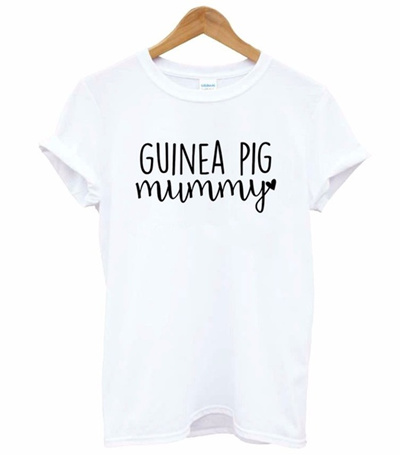76849c766 Guinea Pig mummy Letters Print Women Tshirt Cotton Funny t Shirt For Lady  Girl Top Tee