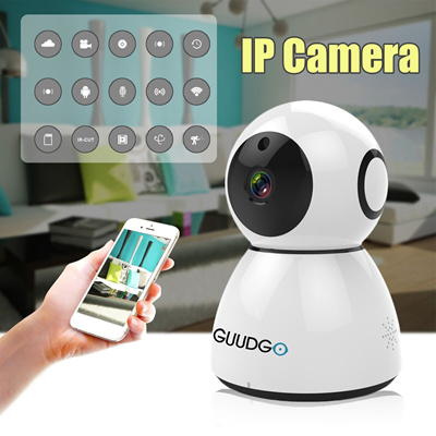Guudgo GD-SC03 Wifi Wireless Home Surveillance Ip Camera HD 1080P Snowman  Night Vision Alarm af0321a7b3
