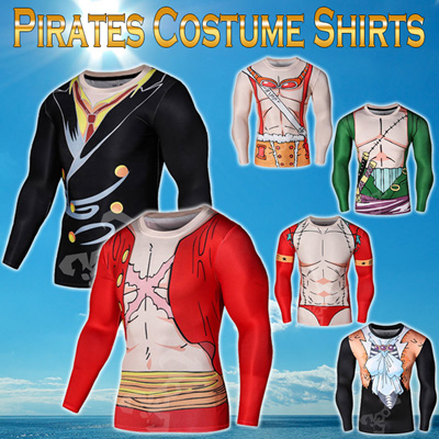 4c8448c38 Qoo10 - Halloween and cosplay! Pirates-style 3D printing T-shirt ...