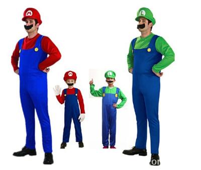 qoo10 halloween costumes funny super mario luigi brother costume