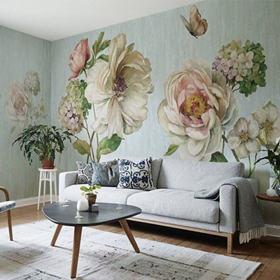 Hand Painted 3d Wall Murals Wallpaper For Walls Flower Murals Background 3d Photo Wall Mural Wall Pa