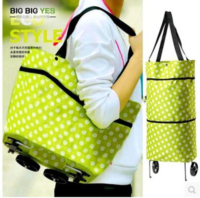 098e5b90d1be Hand trolley shopping bag tug wheel pack collapsible mom buy vegetable  truck Oxford cloth trailer ba
