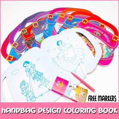 Handbag Coloring Book Free Markers Coloring Pens Children Goodie Bag Kids Students Party Pencils