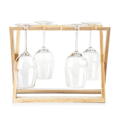Qoo10 Hangover Bamboo Wine Glass Holder Rack Foldable
